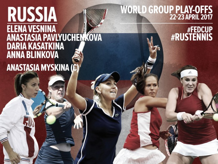 Fed Cup: Russia fields a strong team in their quest to return to the World Group