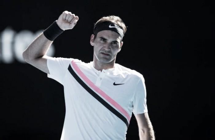 Federer bate húngaro em sets diretos e está nas quartas de final do Australian Open