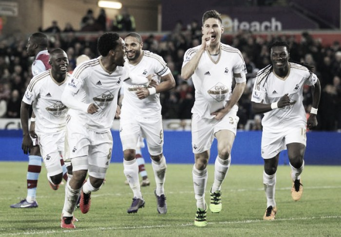 Swansea City 1-0 Aston Villa: Fernandez effort seals home win