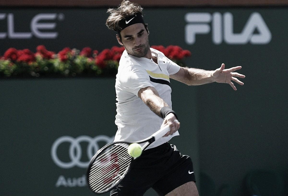 Federer passa com facilidade por Krajinovic e vai às oitavas em Indian Wells