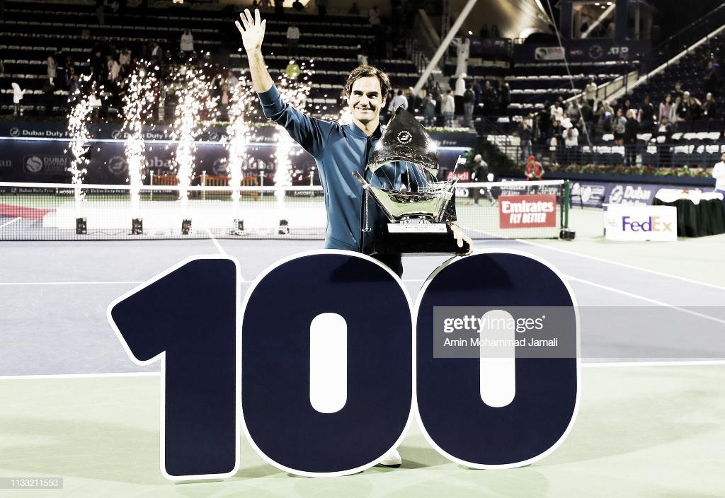 Federer gana el título número cien de su carrera en Dubai