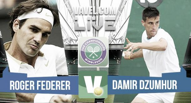 Risultato finale Dzumhur - Federer, primo turno di Wimbledon 2015 (0-3)
