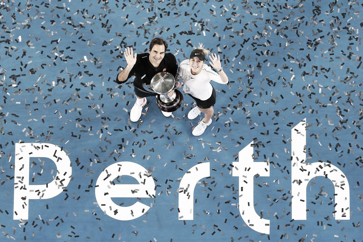 Maior final da história: Bencic/Federer vencem bi da Hopman Cup contra Kerber/Zverev