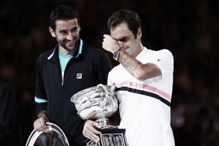 """Federer comemora conquista em Melbourne: """"O conto de fadas continua"""""""