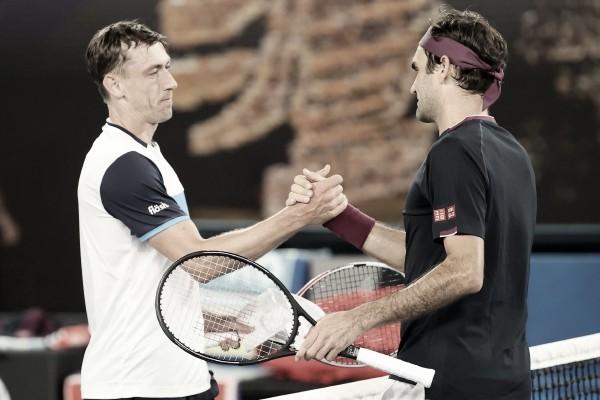 Em partida dramática, Federer vence Millman no quinto set e avança no Australian Open