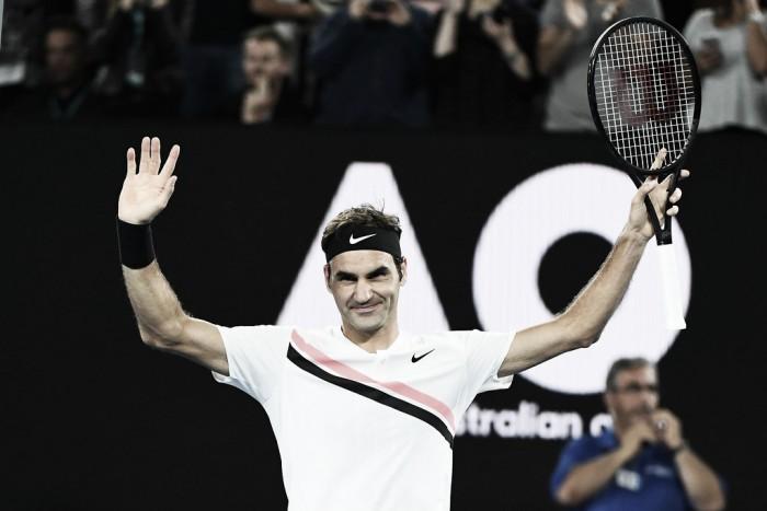 """Federer: """"Estoy feliz porque superé otra prueba y estoy en una nueva semifinal"""""""