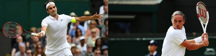 Resultado Roger Federer x Alexandr Dolgopolov Wimbledon (1-0)