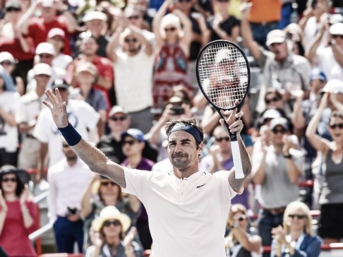 Roger Federer regresa con una exhibición en Montreal