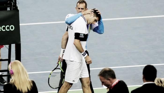Copa Davis: Delbonis batalló pero no pudo con Cilic
