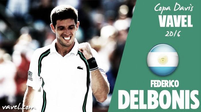 Copa Davis 2016. Federico Delbonis: juventud y experiencia al servicio de la patria