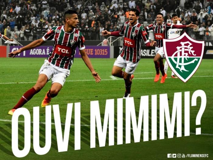 """Após vitória, Fluminense responde provocação do Corinthians: """"Ouvi mimimi?"""""""