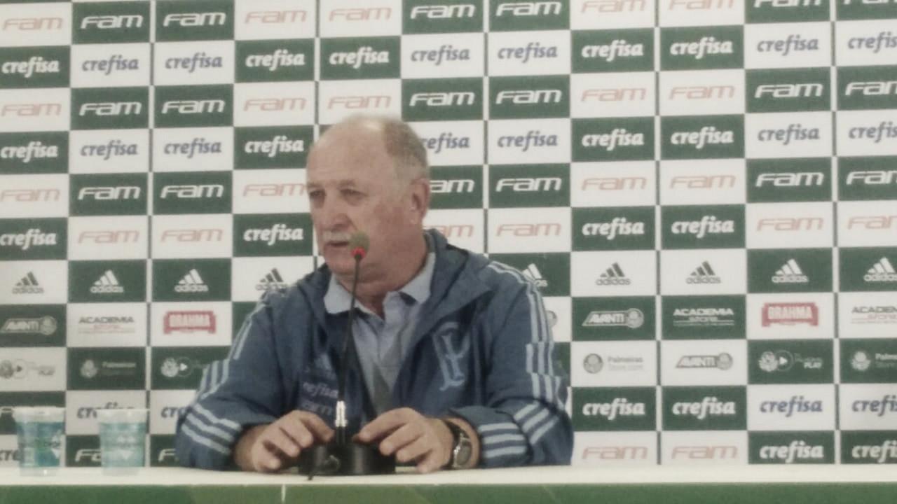 Felipão lamenta eliminação do Palmeiras na Libertadores e admite pressão no Brasileiro