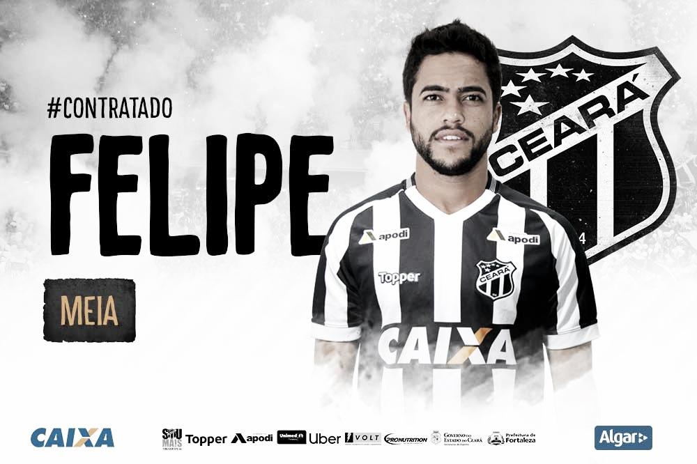 Ceará anuncia volta do meia Felipe Baxola para 2019