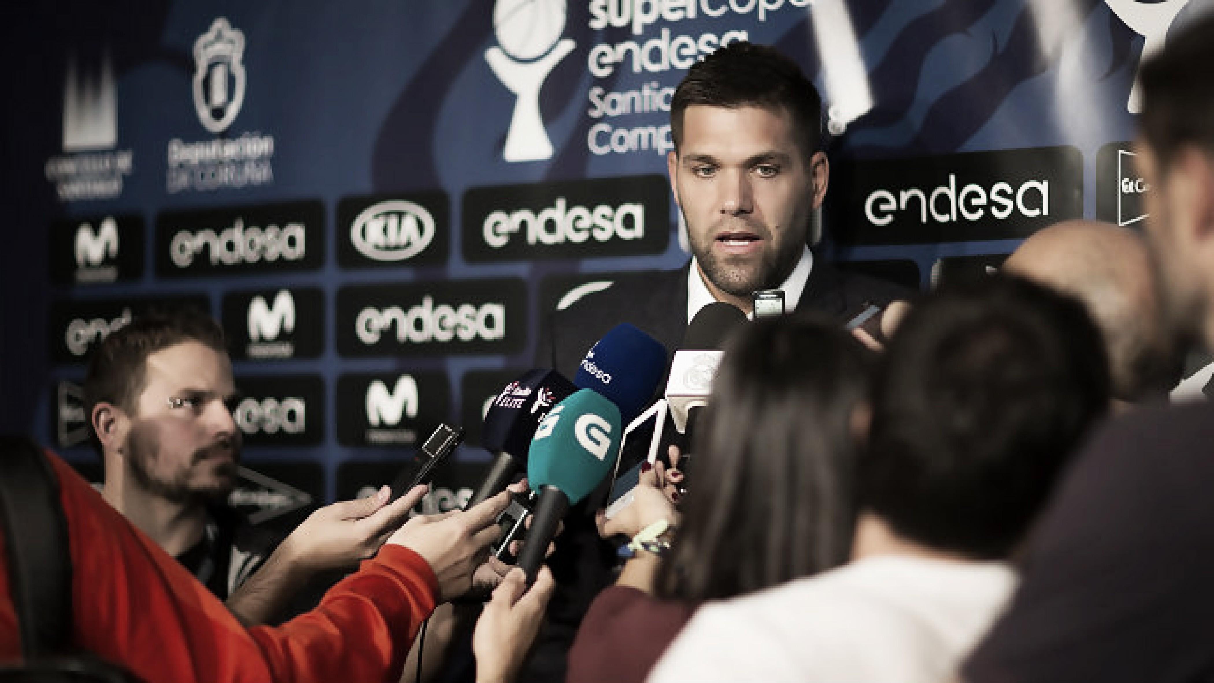 Felipe Reyes compareciendo ante los medios | Foto: ACB.com
