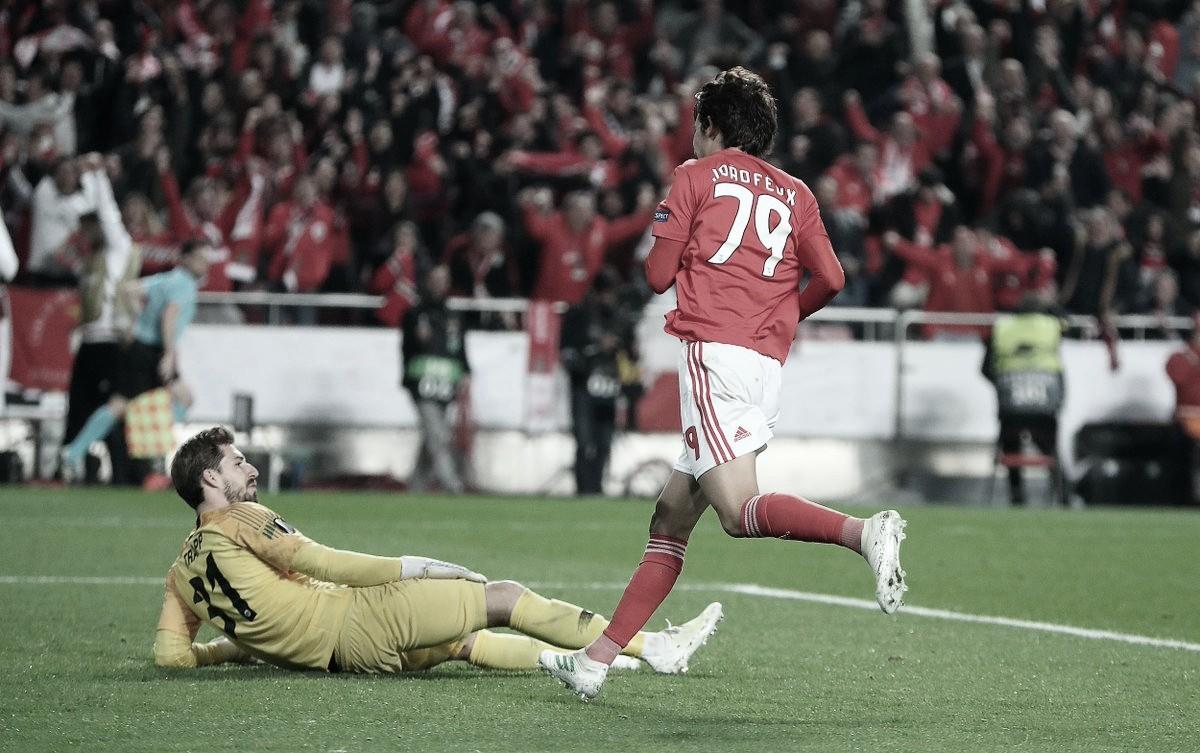 Com show de João Felix, Benfica goleia Frankfurt e sai na frente pelas quartas da Liga Europa