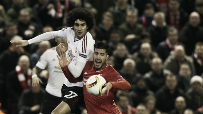 Louis van Gaal praises Fellaini's Liverpool performance
