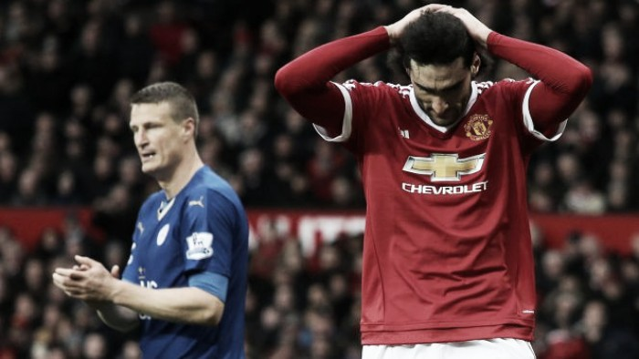 Marouane Fellaini charged by the FA for an elbow on Leicester's Robert Huth