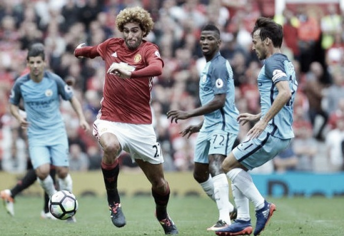 Marouane Fellaini blames first half for Manchester derby defeat