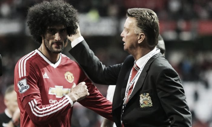 Marouane Fellaini warned by Louis van Gaal to control himself