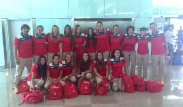 Los equipos españoles de waterpolo parten hacia Bakú
