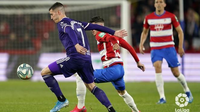 Imagen del último encuentro entre Granada CF y el Real Valladolid en Los Cármenes | Foto: LaLiga