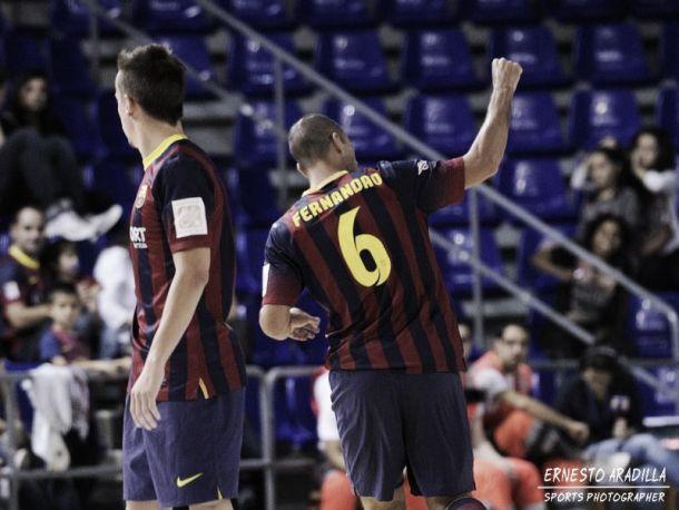 El FC Barcelona Alusport alcanza los cien goles en la UEFA Futsal Cup