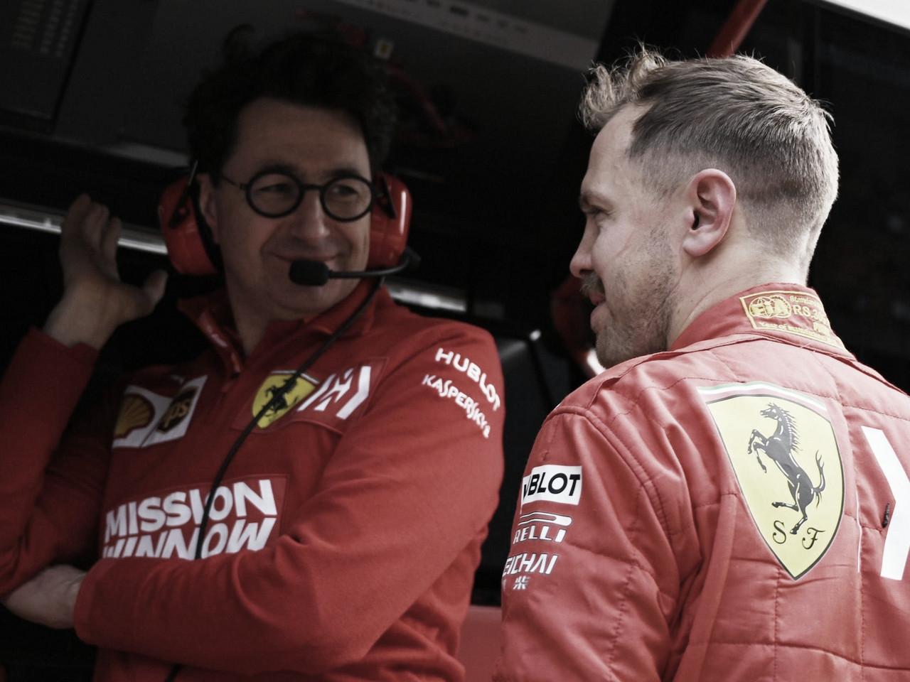 """Chefe da Ferrari, Binotto surpreende: """"Ficaria feliz com Vettel na Mercedes"""""""
