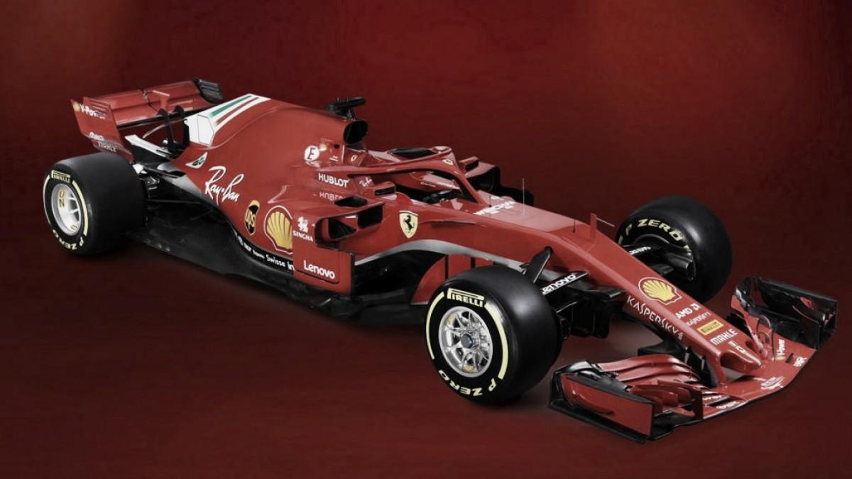 Com carro quase todo vermelho, Ferrari lança SF71H para temporada 2018