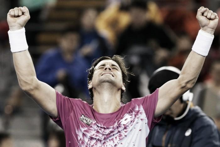 Sufrida victoria de David Ferrer