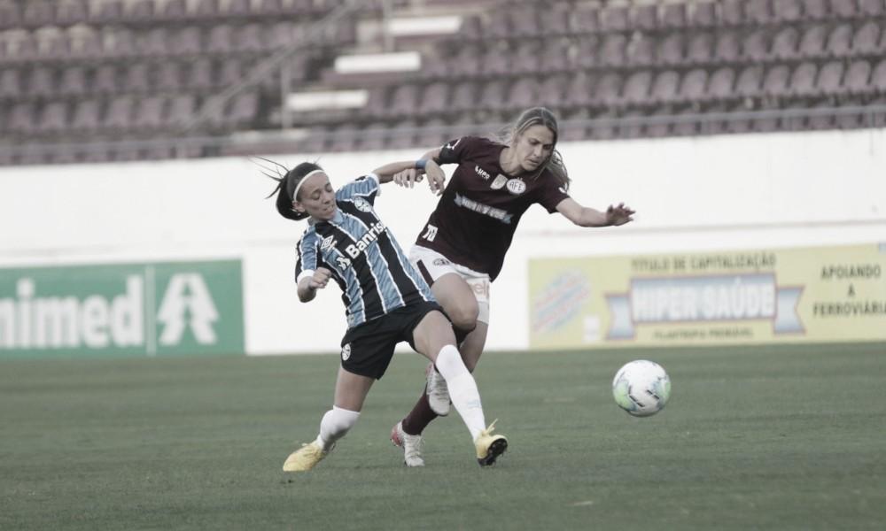 Gisseli garante vitória do Grêmio sobre Ferroviária pelo Brasileirão Feminino A1