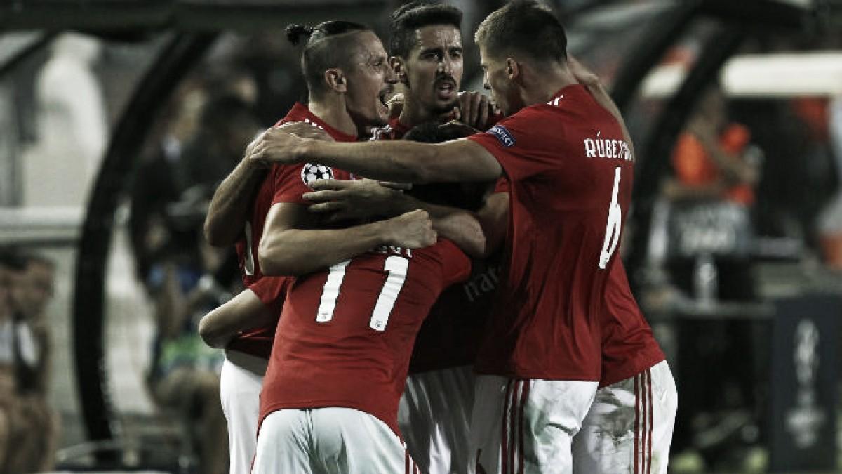 Jugadores del Benfica celebrando un gol / Foto: Benfica