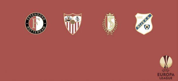 Rivales variados para PSV y Feyenoord en la Europa League