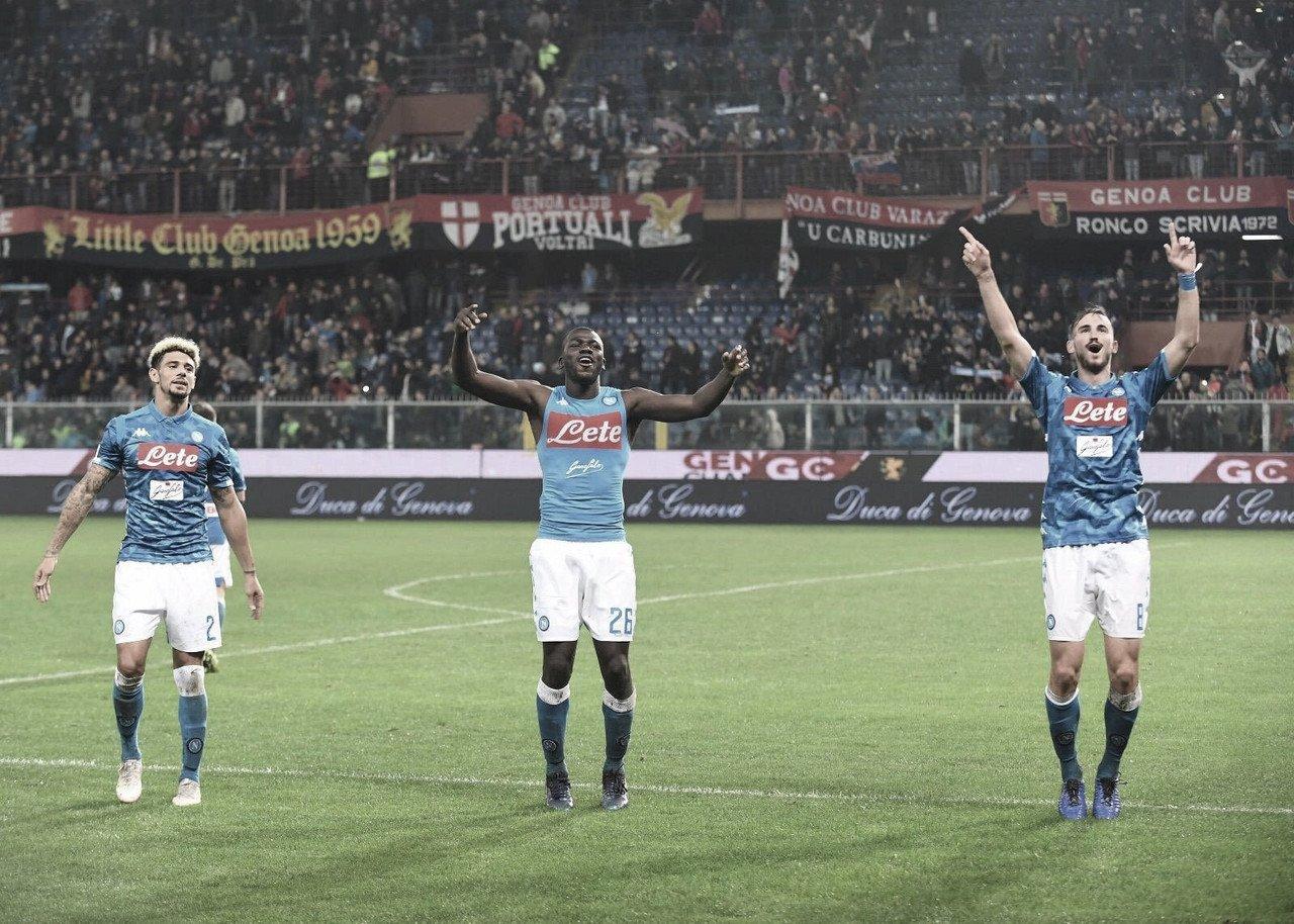 Com direito a paralisação por causa de forte chuva, Napoli vence Genoa de virada fora de casa