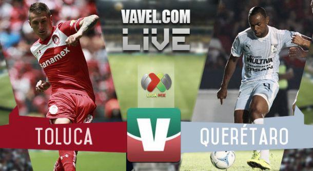 Resultado Toluca - Querétaro en Liga MX 2015 (4-2)