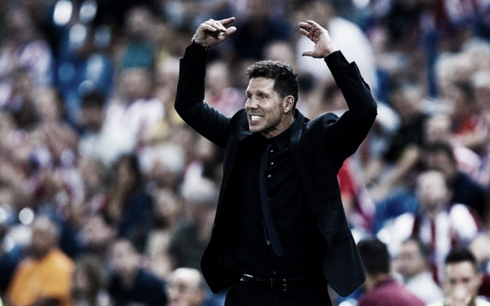 """Simeone se diz satisfeito com empate do Atlético de Madrid diante o Alaves: """"Muito feliz"""""""