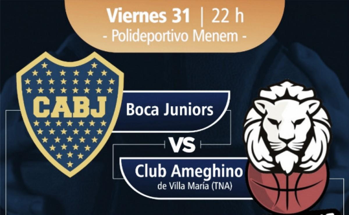 Boca Juniors vs Ameghino Básquet