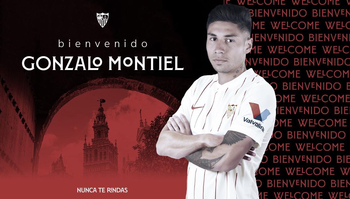 Gonzalo Montiel, nuevo jugador sevillista