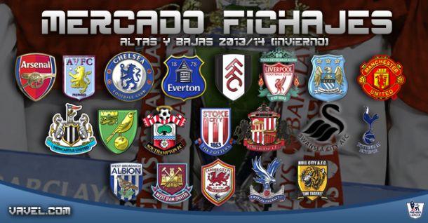 Altas y bajas en Premier League 2013/14 (mercado invernal)