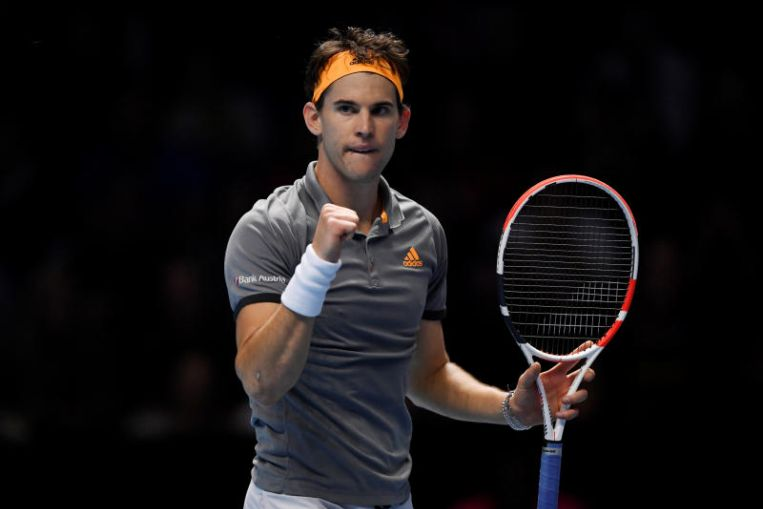 ATP Finals: Dominic Thiem edges Roger Federer in two tight sets