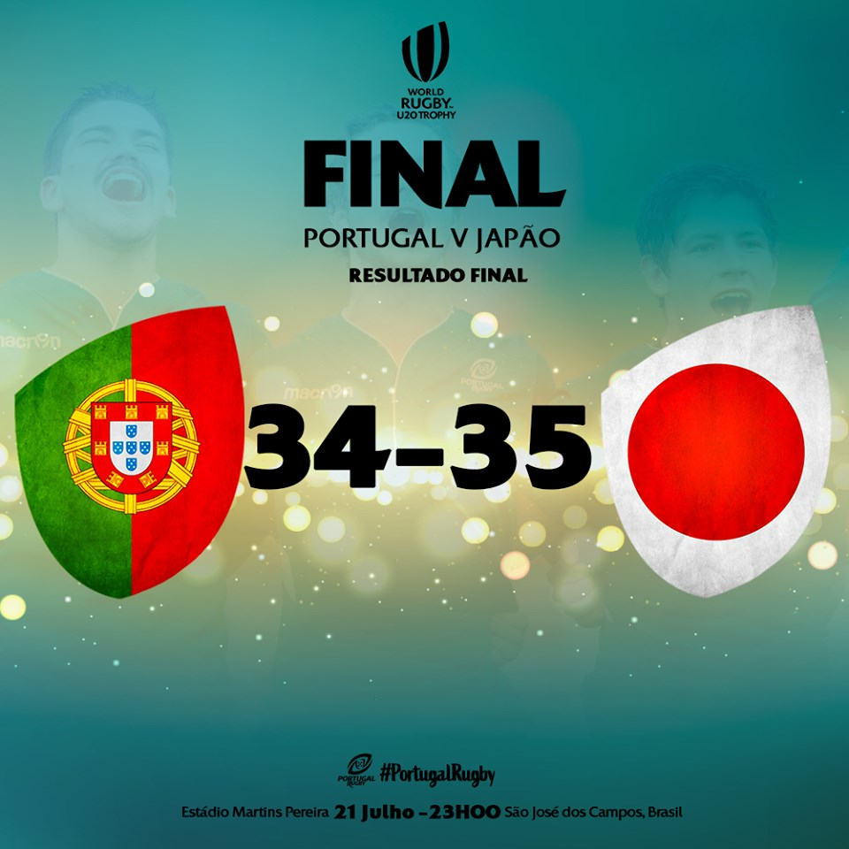 Portugal vice campeão do mundo em rugby de sub 20