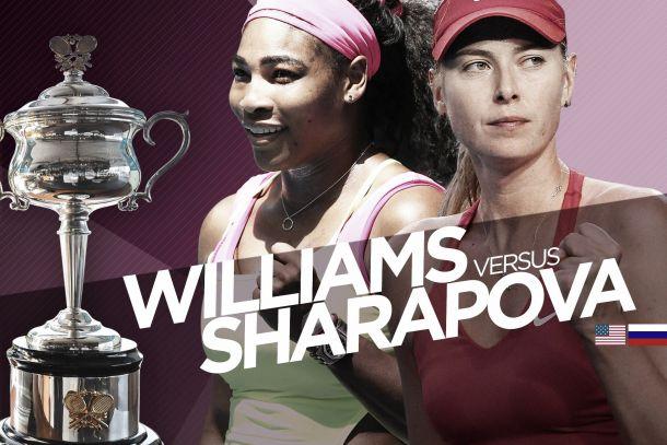 Resultado Serena Williams - Maria Sharapova en el Open de Australia 2015 (2-0)