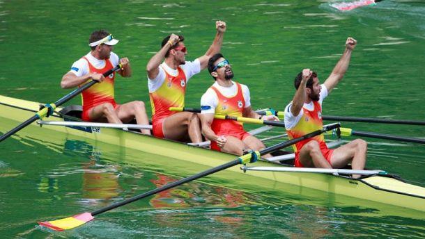 El cuatro sin timonel masculino español, a la lucha por las medallas en Lucerna
