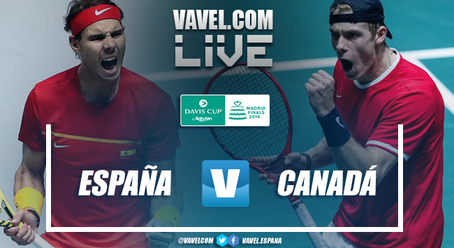 Spain 2-0 Canada: resume and highlights Davis Cup Final 2019
