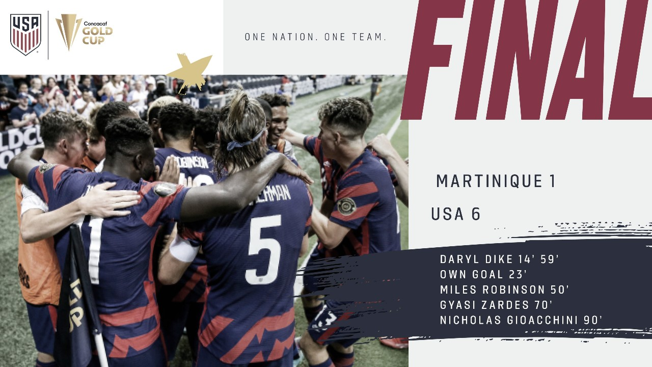 Análisis Post: el subcampeón, EEUU, clasificado a cuartos de final de la Copa Oro 2021