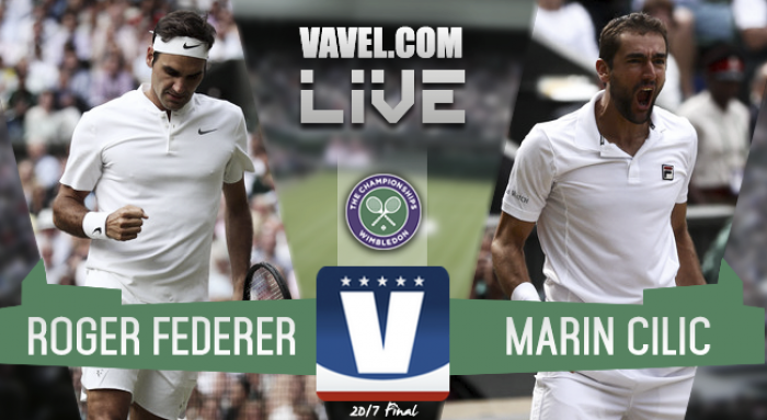 Result Roger Federer 3-0 Marin Cilic in the 2017 Wimbledon Final