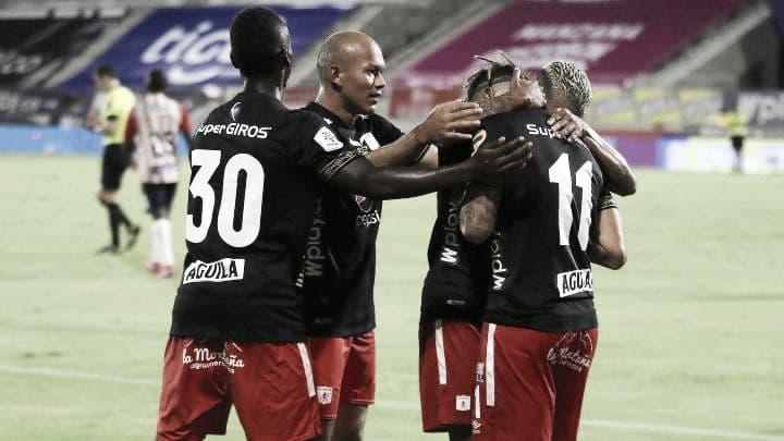 Datos de la victoria de América 1-2 ante Junior por la ida de la Superliga