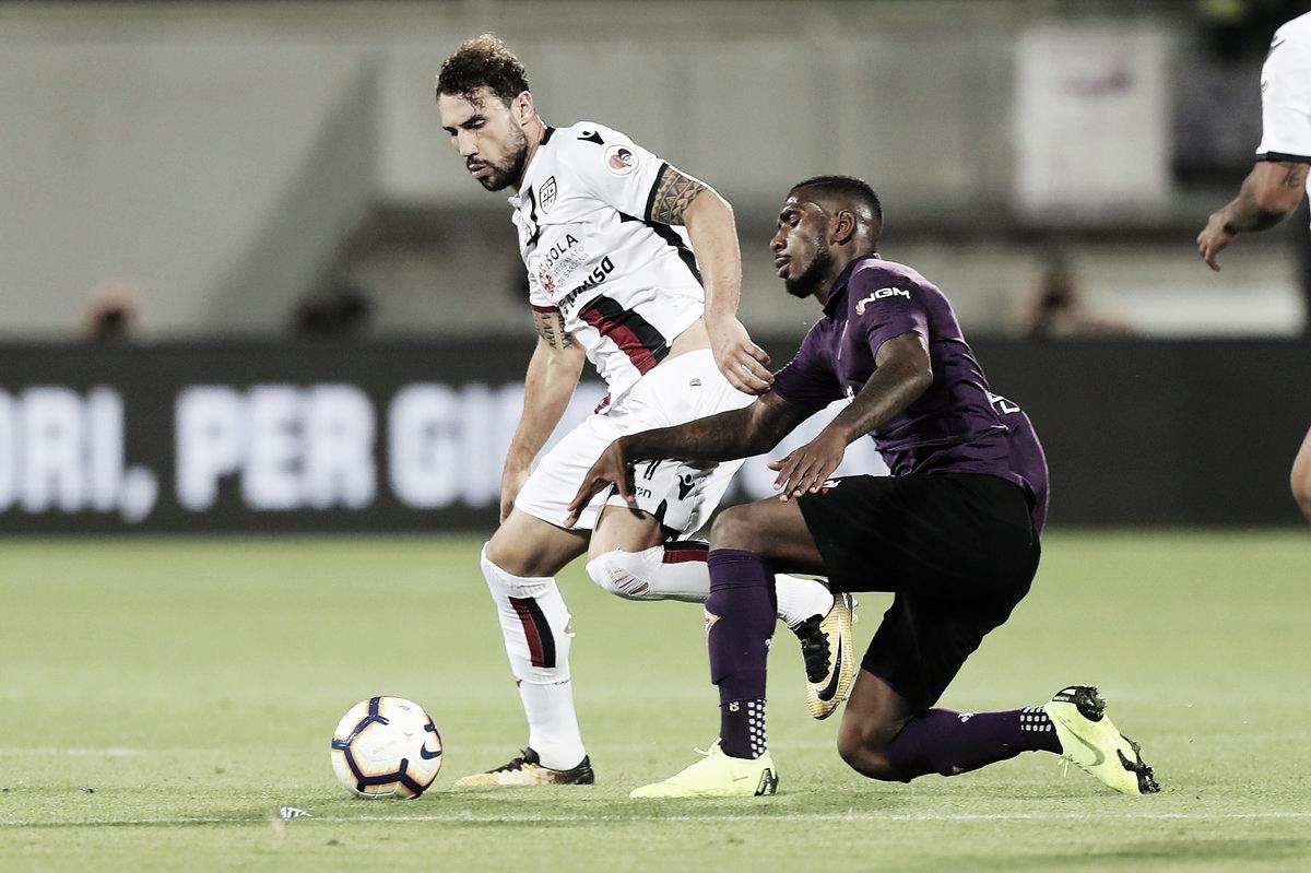 Fiorentina tropeça no Cagliari e perde 100% como mandante na Serie A