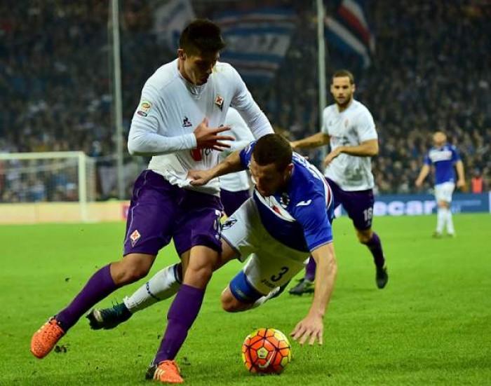 Terminata Fiorentina -Sampdoria in Serie A 2016 (1-1): Ilicic-Alvarez, espulso Correa