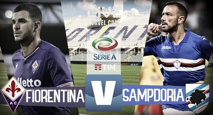 Risultato Fiorentina-Sampdoria in diretta, LIVE Serie A 2017/18 - Caprari, Quagliarella(R), Badelj (1-2)