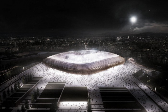 Fiorentina, presentato il progetto per il nuovo stadio